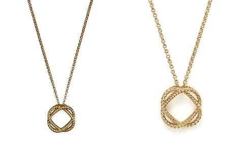 "Roberto Coin 18K Yellow Gold Small Twisted Circle Pendant Necklace, 16"" - Bloomingdale's_2"
