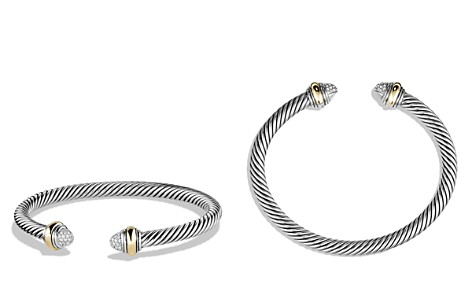 David Yurman Cable Classics Bracelet with Diamonds and Gold - Bloomingdale's_2