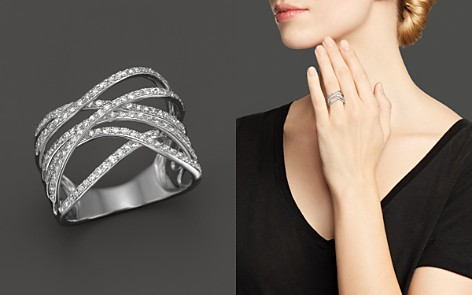 Diamond Crossover Ring in 14K White Gold, .55 ct. t.w. - Bloomingdale's_2