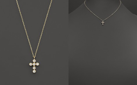 "KC Designs Diamond Cross Pendant Necklace in 14K Yellow Gold, 16"" - Bloomingdale's_2"