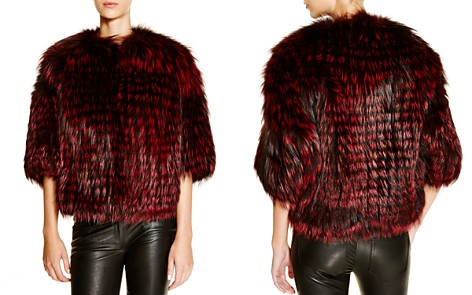 Michael Kors for Maximilian Feathered Saga Fox Coat - 100% Exclusive - Bloomingdale's_2