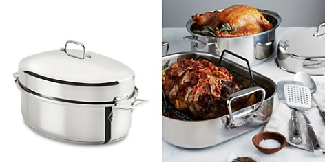 All Clad Stainless Steel Covered Oval Roaster - Bloomingdale's Registry_2