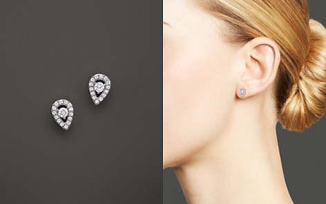 Diamond Pear Shape Stud Earrings in 14K White Gold, .20 ct. t.w. - 100% Exclusive - Bloomingdale's_2