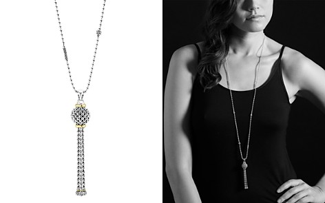 "LAGOS Caviar Tassel Sterling Silver Pendant Necklace with 18K Gold, 36"" - Bloomingdale's_2"