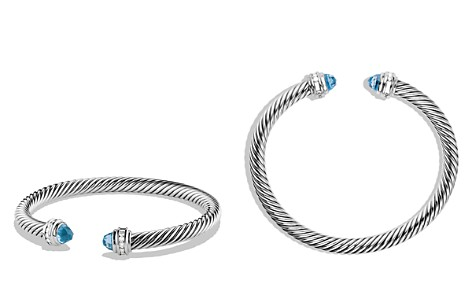 David Yurman Cable Classics Bracelet with Blue Topaz and Diamonds - Bloomingdale's_2