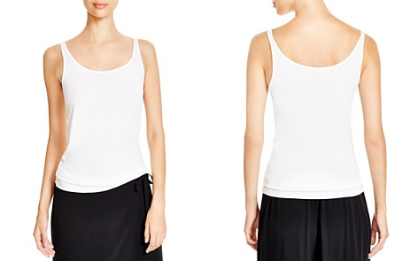 Eileen Fisher System Scoop Neck Long Silk Cami - Bloomingdale's_2