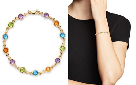 Gemstone Station Bracelet in 14K Yellow Gold - 100% Exclusive - Bloomingdale's_2