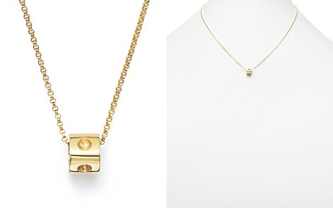 "Roberto Coin 18K Yellow Gold Pois Moi Mini Cube Pendant Necklace, 16"" - Bloomingdale's_2"