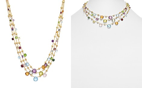 "Marco Bicego 18K Yellow Gold Paradise Three Strand Mixed Stone Necklace, 16.5"" - Bloomingdale's_2"