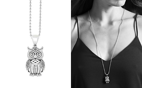 "LAGOS Sterling Silver Rare Wonders Owl Pendant Necklace, 34"" - Bloomingdale's_2"