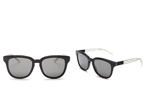 Dior Homme Men's Black Tie Mirrored Square Sunglasses, 52mm - Bloomingdale's_2