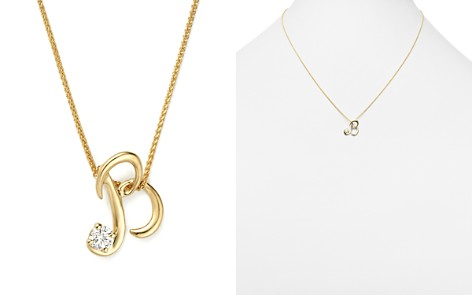 """Diamond Initial Pendant Necklace in 18K Yellow Gold, 18"""" - 100% Exclusive - Bloomingdale's_2"""