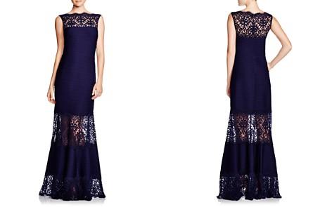 Tadashi Shoji Petites Sleeveless Lace & Pintuck Gown - Bloomingdale's_2