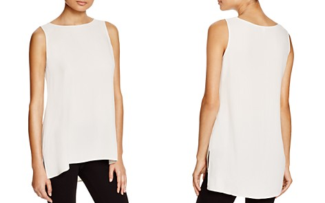 Eileen Fisher System High/Low Silk Tank - Bloomingdale's_2