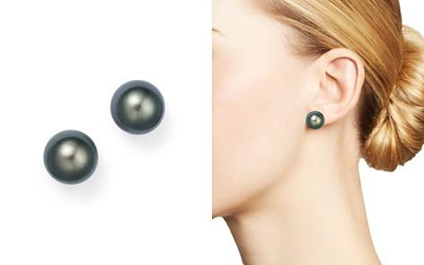 Cultured Tahitian Pearl Stud Earrings 11mm Bloomingdale S 2