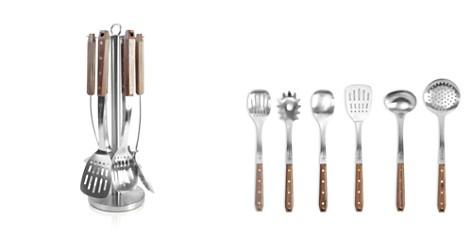 Schmidt Brothers Brass Walnut 7-Piece Kitchen Tool Set - Bloomingdale's_2