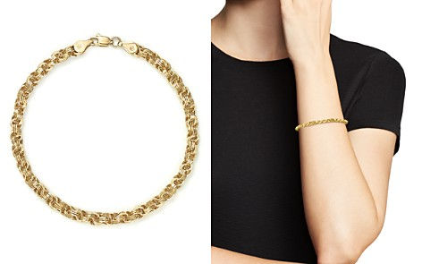 14K Yellow Gold Triple Link Bracelet - 100% Exclusive - Bloomingdale's_2