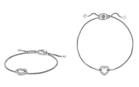 David Yurman Cable Collectibles Heart Station Bracelet with Diamonds - Bloomingdale's_2