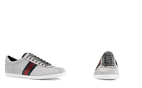 Gucci Men's Bambi Web Metallic Sneakers - Bloomingdale's_2