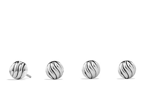 David Yurman Sculpted Cable Earrings in Sterling Silver - Bloomingdale's_2