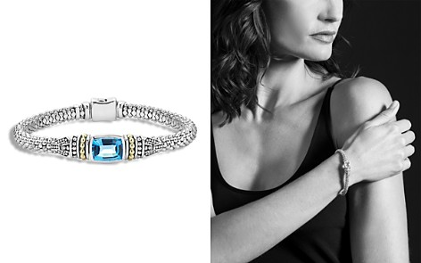 LAGOS 18K Gold and Sterling Silver Caviar Color Bracelet with Swiss Blue Topaz - Bloomingdale's_2