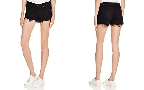 rag & bone/JEAN Cutoff Denim Shorts in Black - Bloomingdale's_2