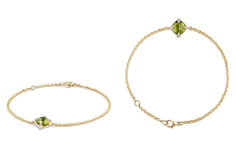 David Yurman Châtelaine Bracelet with Peridot and Diamonds in 18K Gold - Bloomingdale's_2