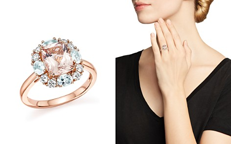 Morganite, Aquamarine and Diamond Ring in 14K Rose Gold - 100% Exclusive - Bloomingdale's_2