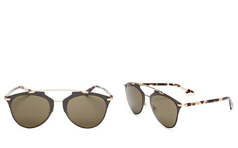Dior Reflected Mirrored Aviator Sunglasses, 52mm - Bloomingdale's_2