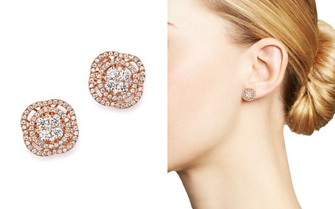 Diamond Cluster Stud Earrings in 14K Rose Gold, 1.0 ct. t.w. - 100% Exclusive - Bloomingdale's_2