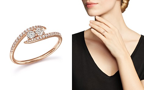 Diamond Wrap Two Stone Ring in 14K Rose Gold, .40 ct. t.w. - 100% Exclusive - Bloomingdale's_2