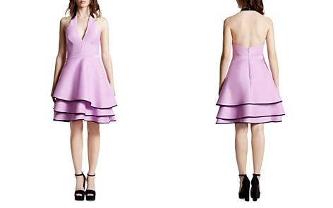HALSTON HERITAGE Tiered Hem Halter Dress - Bloomingdale's_2