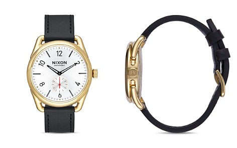 Nixon C39 Leather Strap Watch, 39mm - Bloomingdale's_2