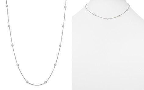 "Roberto Coin 18K White Gold Diamond Station Necklace, 16"" - Bloomingdale's_2"