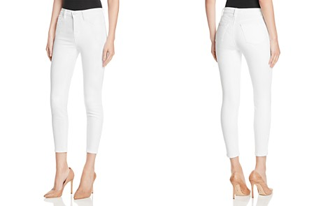 J Brand Alana High Rise Crop Jeans in Blanc - Bloomingdale's_2