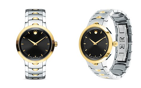 Movado Two-Tone Luno Watch, 40mm - Bloomingdale's_2