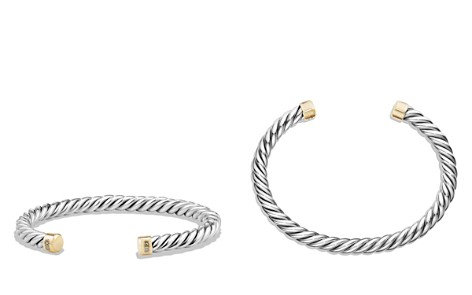 David Yurman Cable Classics Cuff Bracelet with 18K Gold - Bloomingdale's_2