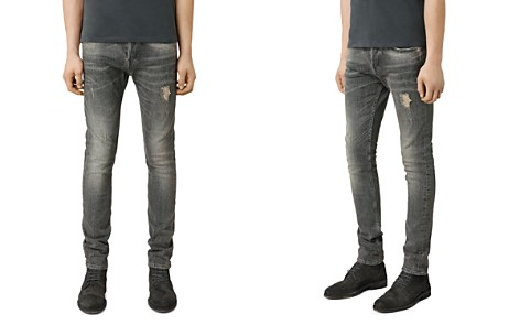 ALLSAINTS Raveline Cigarette Super Slim Fit Jeans in Dark Grey - Bloomingdale's_2