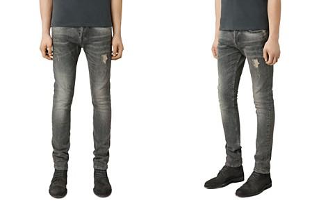 ALLSAINTS Raveline Cigarette Super Slim Fit Jeans in Dark Grey - Bloomingdale's_2