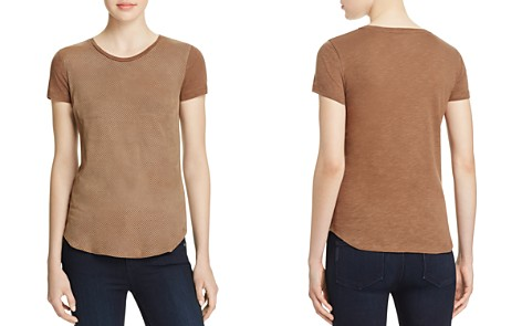 Majestic Filatures Perforated Leather Front Tee - Bloomingdale's_2