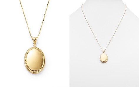 """14K Yellow Gold Oval Locket Necklace, 22"""" - 100% Exclusive - Bloomingdale's_2"""
