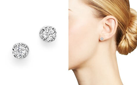 Diamond Solitaire Stud Earrings in 14K White Gold, .35-.60 ct. t.w. - 100% Exclusive - Bloomingdale's_2