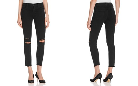J Brand Low Rise Skinny Jeans in Black Mercy - 100% Exclusive - Bloomingdale's_2