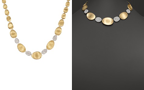 """Marco Bicego Diamond Lunaria Graduated Collar Necklace in 18K Gold, 17.25"""" - Bloomingdale's_2"""