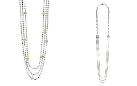 "LAGOS 18K Gold and Sterling Silver Three Strand Caviar Icon Beaded Necklace, 22"" - Bloomingdale's_2"