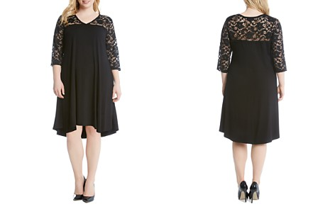 Karen Kane Plus Lace Yoke High/Low Dress - Bloomingdale's_2