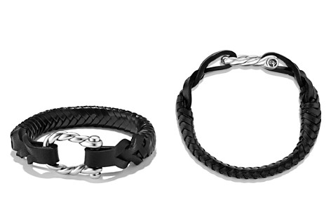 David Yurman Maritime Leather Woven Shackle Bracelet in Black - Bloomingdale's_2