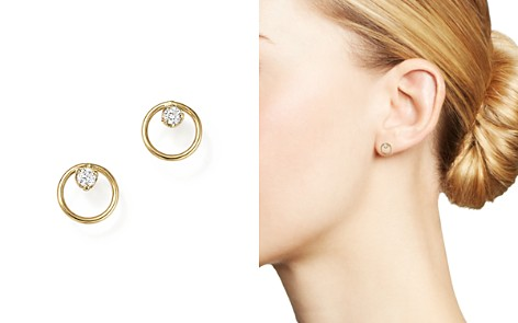 Zoë Chicco 14K Yellow Gold Paris Small Circle Diamond Earrings - Bloomingdale's_2