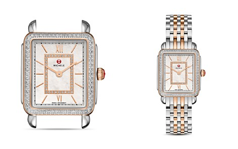 MICHELE Deco II Rose Gold Diamond Dial Watch Head, 26 x 27.5mm - Bloomingdale's_2