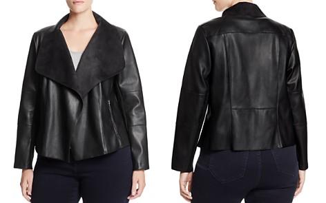 Bagatelle Plus Draped Faux Leather Jacket - Bloomingdale's_2